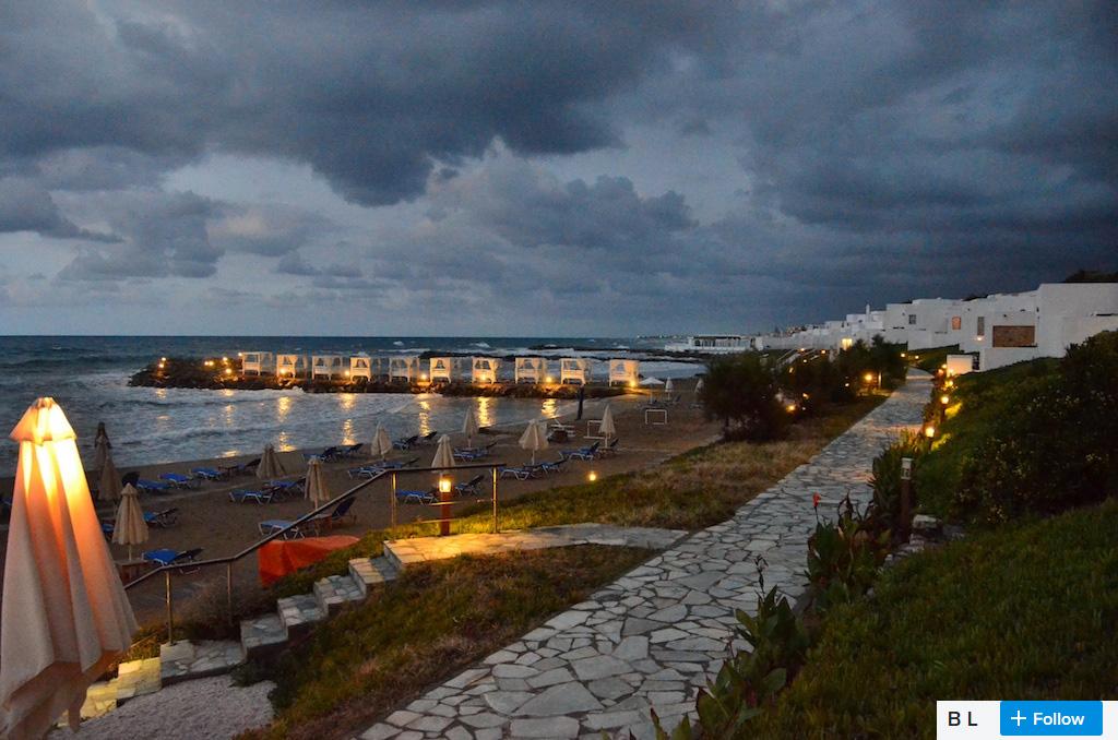heraklion beach at dawn