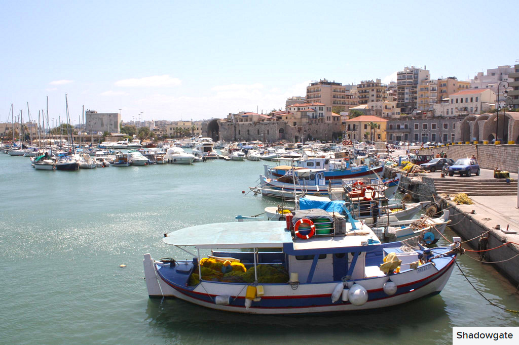 heraklion port views