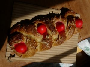 Greek Tsoureki Bread for Crete Easter