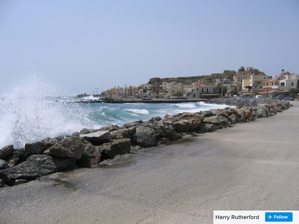 Paleohora sea front