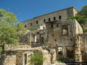 Turkish ruins on spinalonga