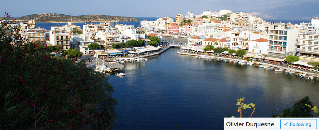 agios nikolaos view over the lake