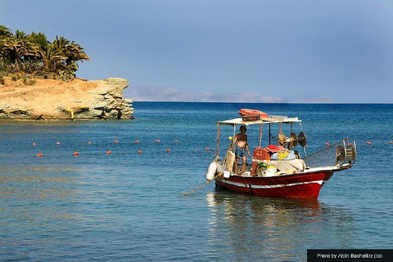 boat-in Agia Pelagia bay