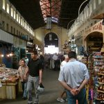 chania cross shaped market