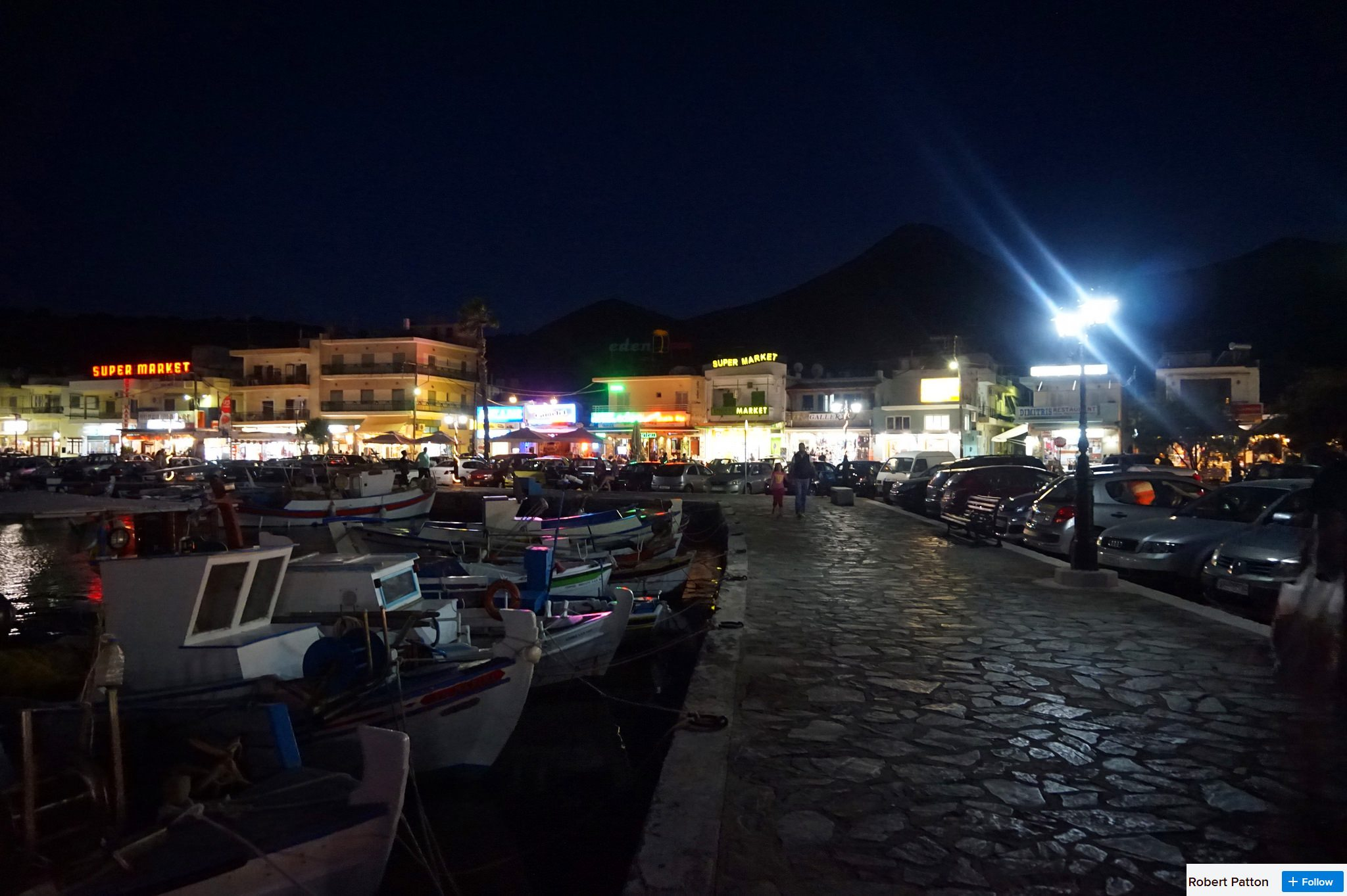 elounda at night