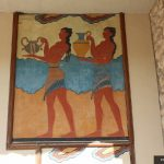 fresco in knossos palace