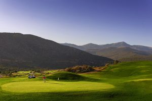 golf in crete at dusk