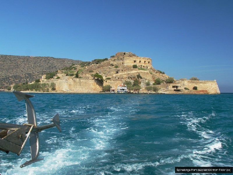 leaving spinalonga island