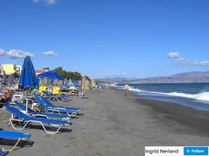 sandy platanias beach