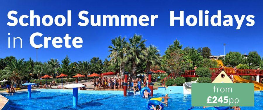 school summer holidays in crete