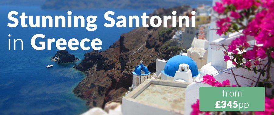 stunning santorini near crete